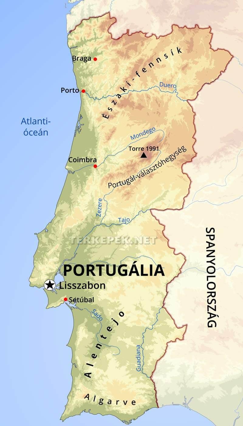 portugália térkép Portugália térképek portugália térkép